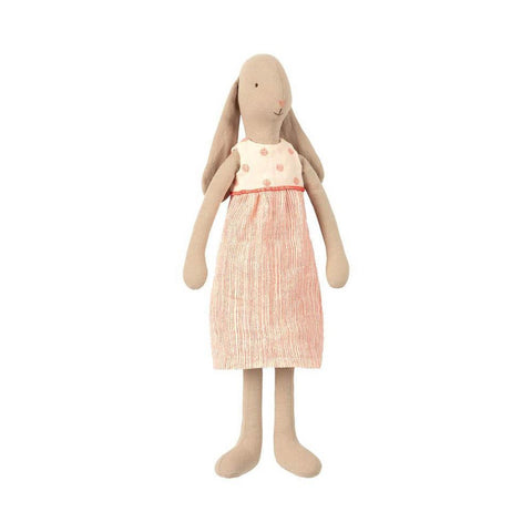 Maileg bunny in white dress, size 3-puppets, stuffies & dolls-Maileg-Dilly Dally Kids