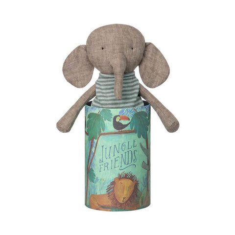 Maileg jungle friends elephant-puppets, stuffies & dolls-Maileg-Dilly Dally Kids