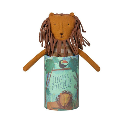 Maileg jungle friends leo-puppets, stuffies & dolls-Maileg-Dilly Dally Kids