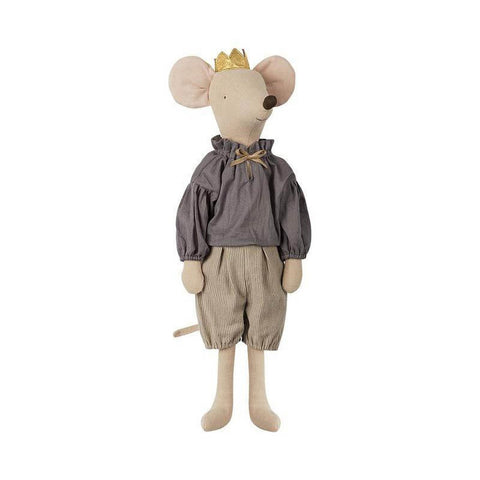 Maileg maxi prince mouse - grey-puppets, stuffies & dolls-Maileg-Dilly Dally Kids