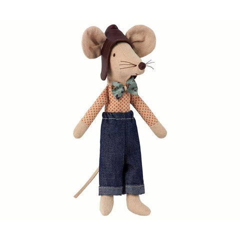 Maileg racer dad mouse-puppets, stuffies & dolls-Maileg-Dilly Dally Kids