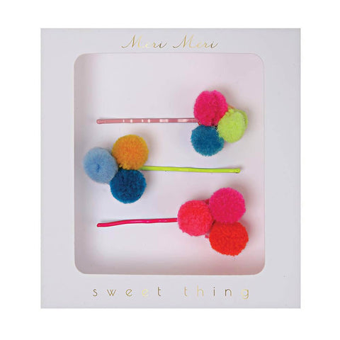 meri meri pom pom hair pins-accessories-Merri Merri-Dilly Dally Kids