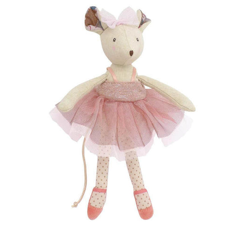Moulin Roty ballerina suitcase-puppets, stuffies & dolls-Fire the Imagination-Dilly Dally Kids
