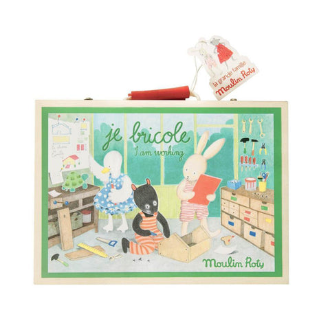 Moulin Roty DIY suitcase tool set-pretend play-Fire the Imagination-Dilly Dally Kids
