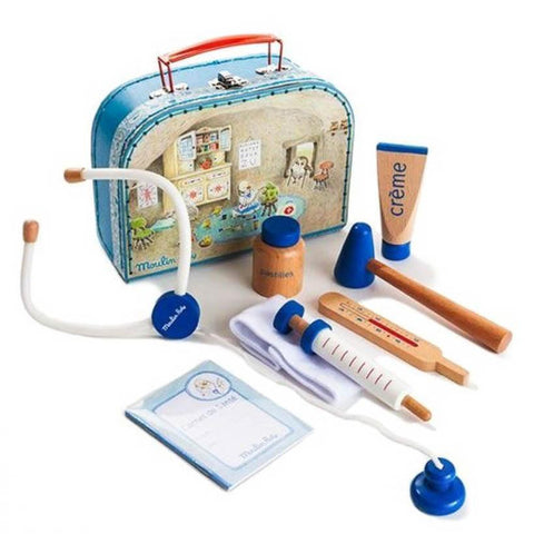 Moulin Roty doctor kit in suitcase-pretend play-Fire the Imagination-Dilly Dally Kids