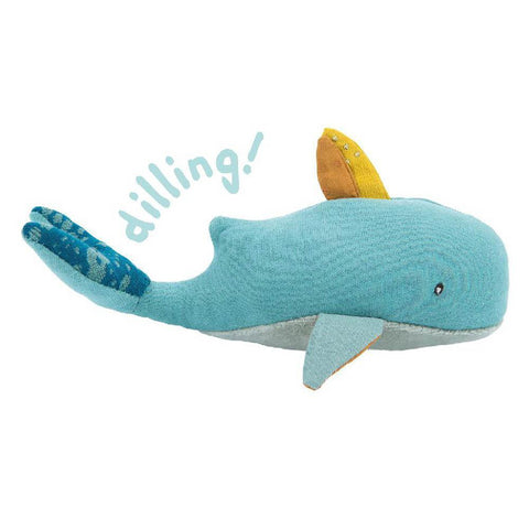 Moulin Roty Josephine soft whale rattle-baby-Fire the Imagination-Dilly Dally Kids