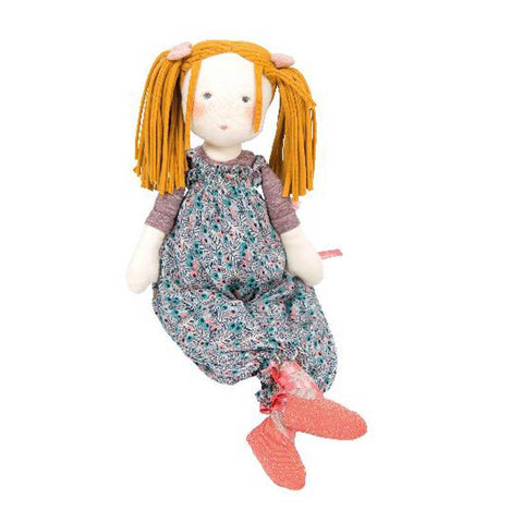 Moulin Roty les rosalies Violette rag doll-puppets, stuffies & dolls-Fire the Imagination-Dilly Dally Kids