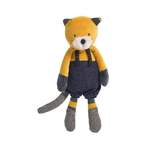Moulin Roty Lulu yellow cat soft toy-baby-Fire the Imagination-Dilly Dally Kids