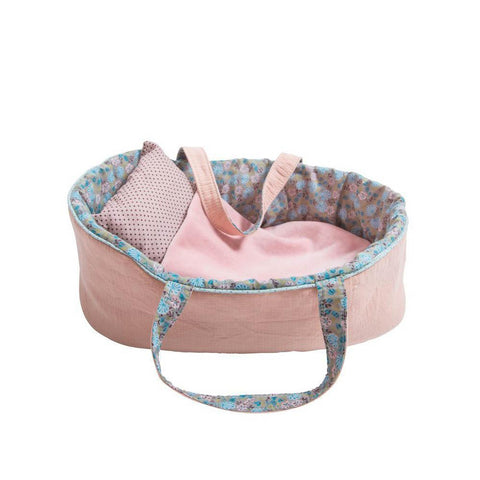 Moulin roty Mirabelle carry cot large-puppets, stuffies & dolls-Fire the Imagination-Dilly Dally Kids