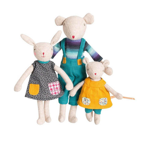 Moulin Roty Noisette the mouse-puppets, stuffies & dolls-Fire the Imagination-Dilly Dally Kids
