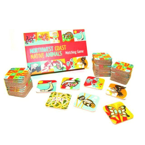 Northwest Coast matching game-games-Raincoast-Dilly Dally Kids