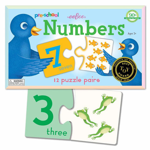 numbers puzzle pairs-puzzles-eeBoo Toys & Gifts-Dilly Dally Kids