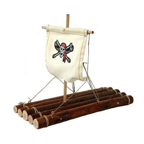 Ogas wooden pirate raft