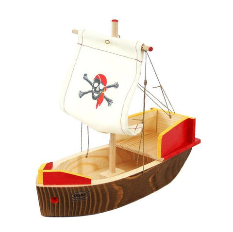 wooden pirate ship-cars, boats, planes & trains-Ogas-Dilly Dally Kids