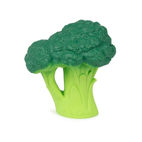 oli & carol brucy the broccolli rubber teether