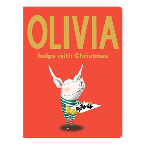 Olivia Helps with Christmas board book-books-Simon & Schuster-Dilly Dally Kids