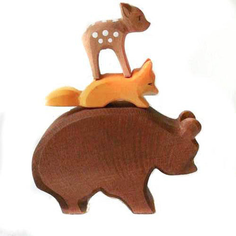 Ostheimer wooden brown bear-people, animals & lands-Fire the Imagination-Dilly Dally Kids
