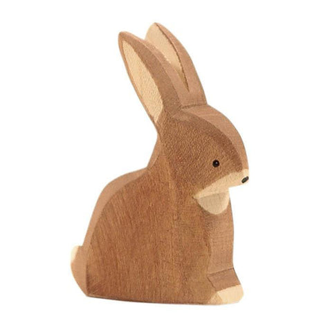 Ostheimer wooden brown rabbit-people, animals & lands-Fire the Imagination-Dilly Dally Kids