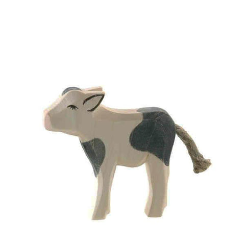 Ostheimer wooden cow calf-people, animals & lands-Fire the Imagination-Dilly Dally Kids