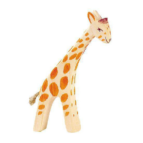Ostheimer wooden giraffe - small head low-people, animals & lands-Fire the Imagination-Dilly Dally Kids