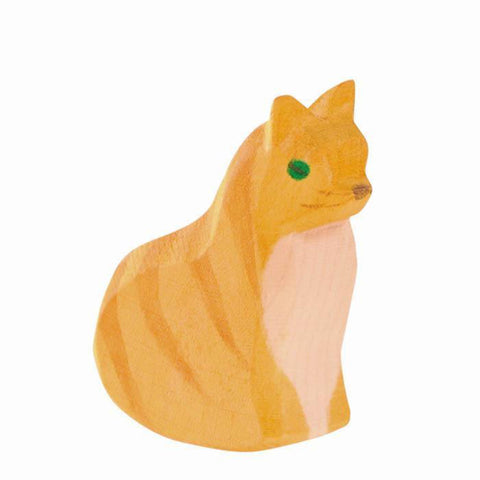Ostheimer wooden orange cat-people, animals & lands-Fire the Imagination-Dilly Dally Kids
