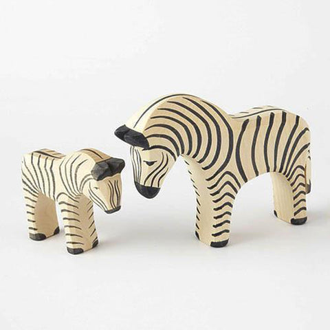 Ostheimer wooden small zebra-people, animals & lands-Fire the Imagination-Dilly Dally Kids