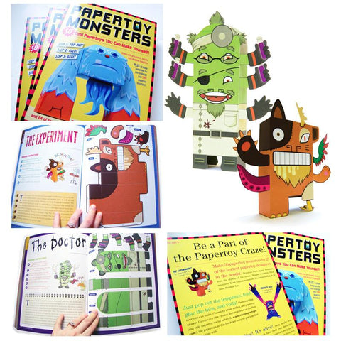 Papertoy Monsters: Make Your Very Own Papertoys-arts & crafts-Thomas Allen-Dilly Dally Kids