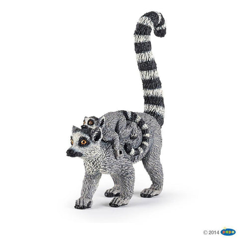 papo lemur and baby figure-people, animals & lands-Le Toy Van-Dilly Dally Kids