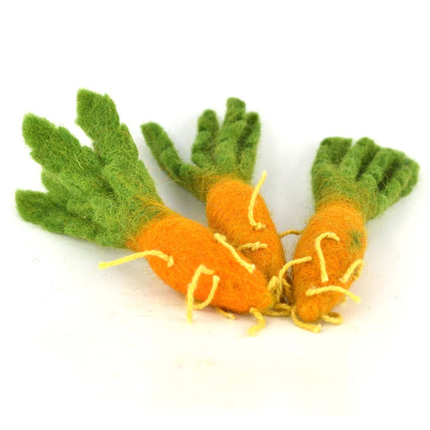 papoose felt carrot