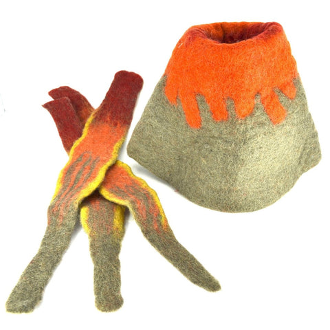 papoose volcano with lava set 4 pc
