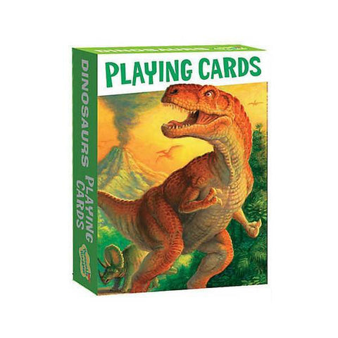 Peaceable Kingdom dinosaur playing cards