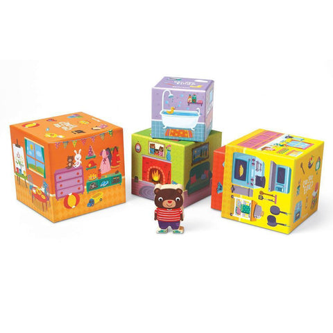 Peaceable Kingdom Where's Bear stacking block game