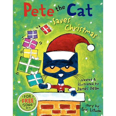 Pete the Cat Saves Christmas book-Christmas & Holidays-Harper Collins-Dilly Dally Kids