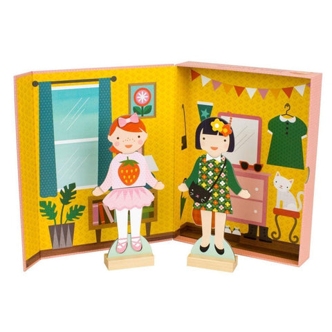 Petit Collage best friends magnetic dress up-arts & crafts-Petit Collage-Dilly Dally Kids