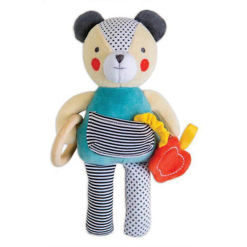 Petit Collage busy bear organic activity toy-baby-Petit Collage-Dilly Dally Kids