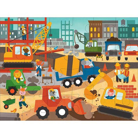 Petit Collage construction site floor puzzle-puzzles-Petit Collage-Dilly Dally Kids