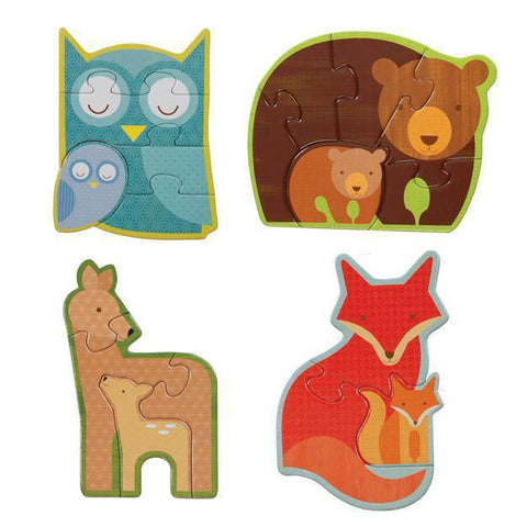 Petit Collage forest babies beginner puzzle-puzzles-Petit Collage-Dilly Dally Kids