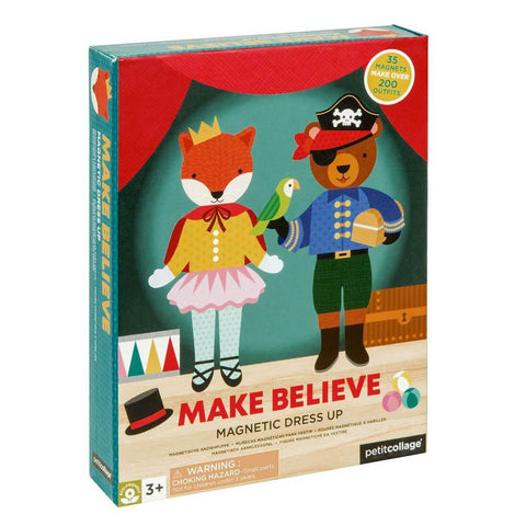 petit collage make believe magnetic dress up-arts & crafts-Petit Collage-Dilly Dally Kids