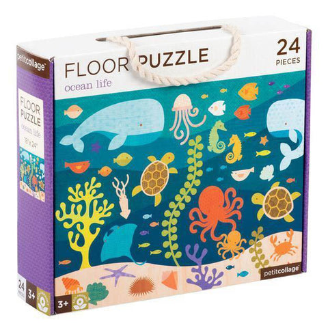 Petit Collage ocean life floor puzzle-puzzles-Petit Collage-Dilly Dally Kids