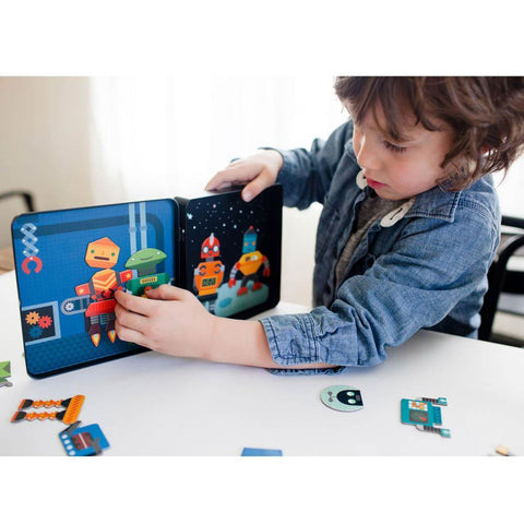 Petit Collage robot remix magnetic play set-arts & crafts-Petit Collage-Dilly Dally Kids