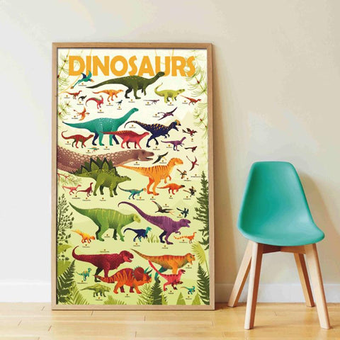 poppik sticker discovery poster dinosaurs