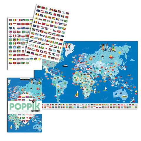 poppik sticker discovery poster flags