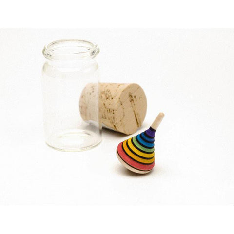 rainbow mini wooden top-adult and brain-Mader-Dilly Dally Kids