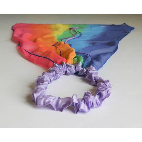 Sarah's Silks rainbow and lavender veil-dress up-Sarah's Silks-Dilly Dally Kids