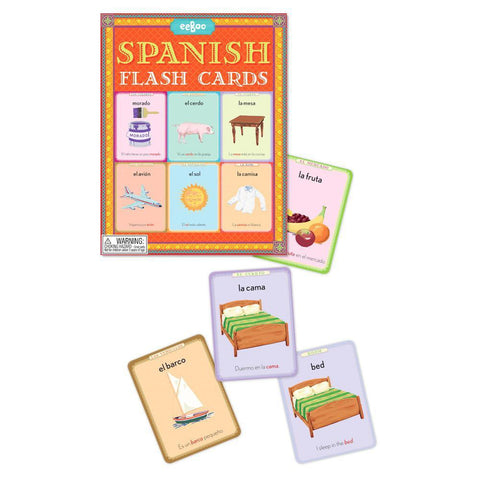 Spanish flash cards-literacy-eeBoo Toys & Gifts-Dilly Dally Kids