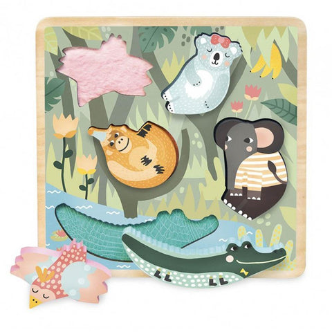 Vilac jungle wooden puzzle-puzzles-Fire the Imagination-Dilly Dally Kids