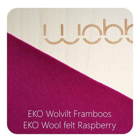 wobbel board - lacquer raspberry felt-outdoor-Wobbel-Dilly Dally Kids