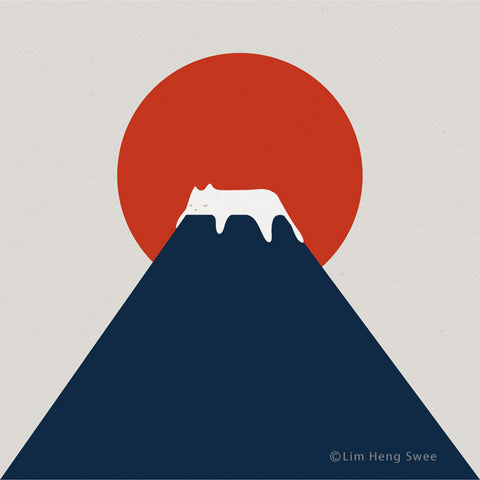 Cat Minimal Landscape Art Series