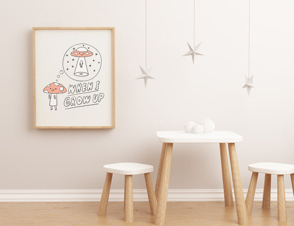 When Mushroom Grow Up - Art Print