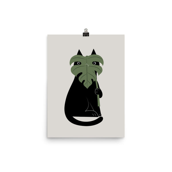 Cat and Plant 14: Monster-a - Art print